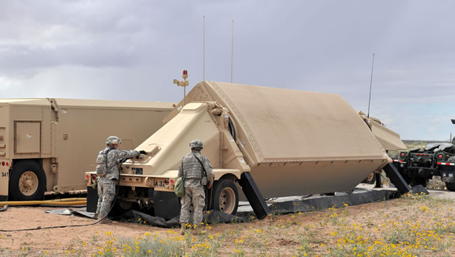 The Army Navy/ Transportable Radar Surveillance and Control, or  AN/TPY-2, is a transportable X-band, high-resolution, phasedarray radar designed specifically for ballistic missile defense. In the terminal mode, the same  radar  provides surveillance, track, discrimination  and fire control support for the Terminal High Altitude Area Defense (THAAD) weapon system.