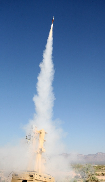 Miniature Hit-To-Kill (MHTK) interceptor launched on an EAPS test flight - May 2012. Photo: Lockheed Martin