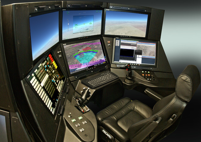 The Advanced Cockpit GCS features intuitive interfaces designed to make hazardous situations easier to identify, enhancing safety and improving the pilot's reaction time and decision-making processes. Its ergonomic human-machine interface significantly improves situational awareness and reduces workload so the pilot can more effectively and efficiently accomplish his or her mission.