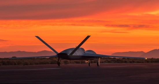 A Predator C Avenger lined up on the runway at . Photo: GA-ASI.