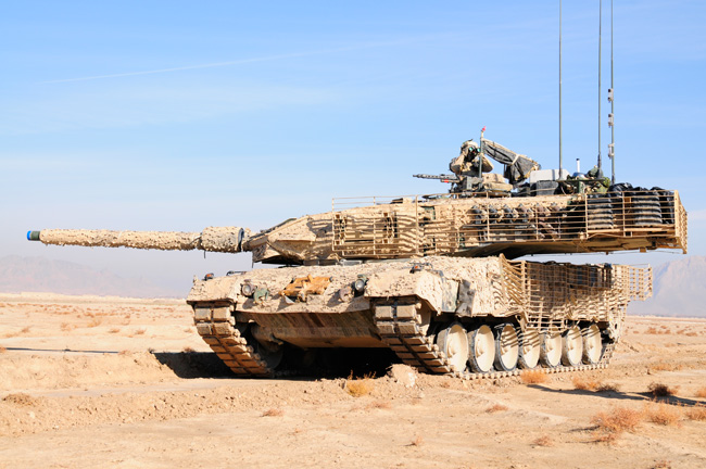 Leopard 2A6 is the variant widely used in Afghanistan by the German, Canadian and Danish forces. Photo: KMW