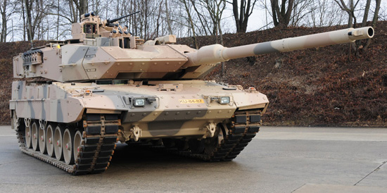 Leopard 2A7+ is the latest version of the Leopard 2 tank from KMW. It is well adapted for asymmetric and full scale warfare. Photo: KMW