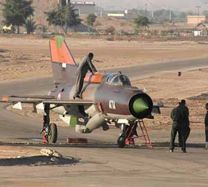 The Syrian air force Russian-made MiG-21 plane landed with in the King Hussein military base in Mafraq. Jordan has granted political asylum to the Syrian pilot, Colonel Hassan Merei al-Hamade.