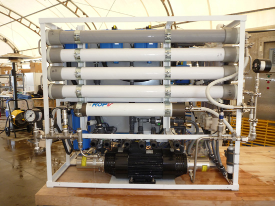 prototype water desalination system developed for DARPA by Teledyne Scientific Company. Photo via DARPA
