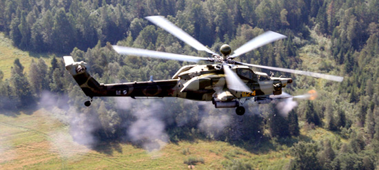 Mi-28N at a firing range in Russia. Photo: RHC