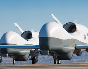 The first MQ-4C Triton maritime surveillance drones were recently delivered to the US Navy. Photo: Northrop Grumman