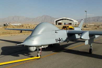 Luftwaffe German Air Force-Heron 1 UAS supporting NATo from Mazer a Sherif, Afghanistan