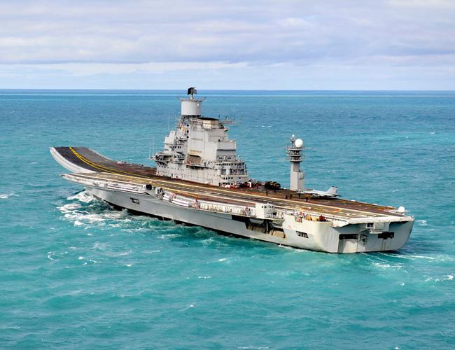 Vikramaditya at sea on its second sea trials late 2012. Photo: Maksim Vorkunkov via Flickr.