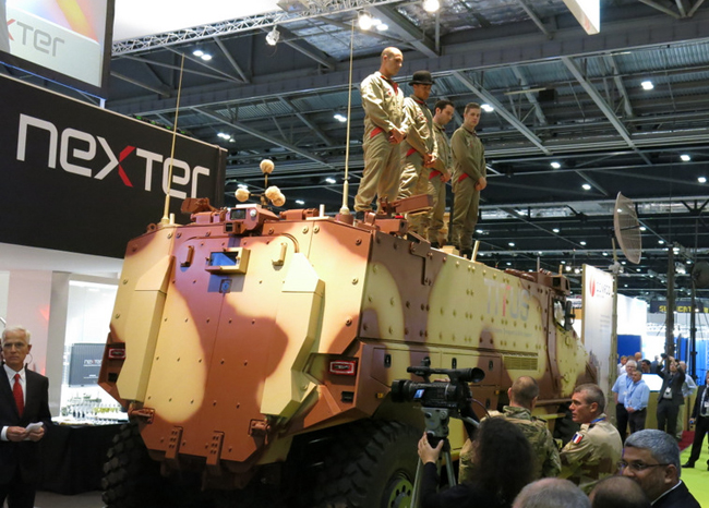Nexter unveils the new 6x6 Titus armored combat personnel carrier