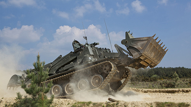 The Terrier Combat Engineer Vehicle. Photo: BAE Systems