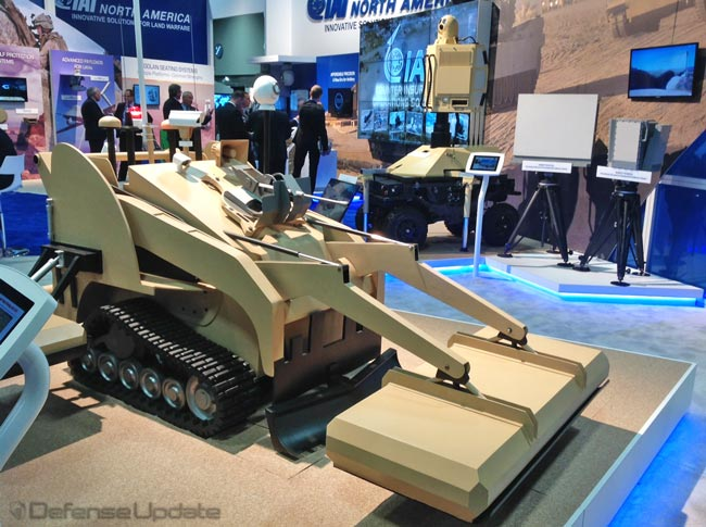 IAI MIDS Countermine Robot at AUSA 2013. Photo: Tamir Eshel, Defense-Update