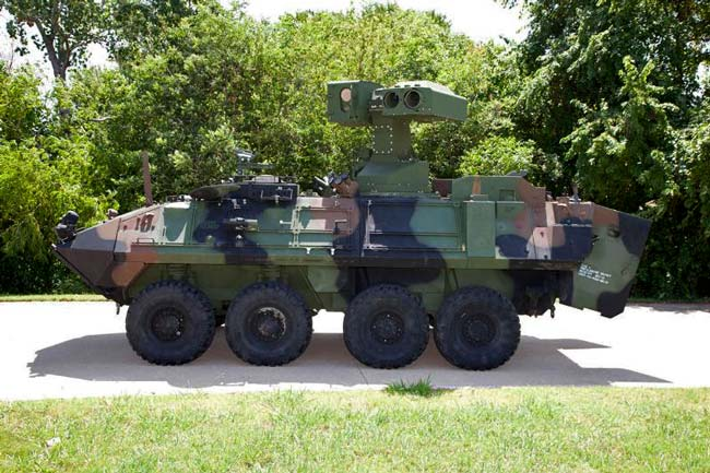 U.S. Marine Corps Light Armored Vehicle Anti-Tank (LAV-AT) weapon system. Photo: Raytheon