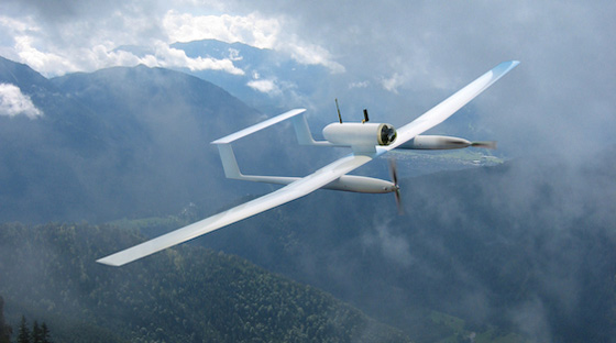 The Tracker is a short-range mini UAS/UAV with two low noise electric engines. Photo: Cassidian