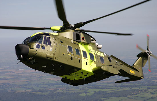 Denmark is operating eight AW101 helicopters since 2007. Photo: Agustawestland