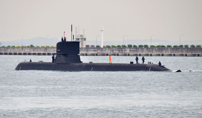 RSS Archer is the lead submarine of the Archer Class commissioned with the the Singapore Navy this year. Photo BQ-T via Flickr