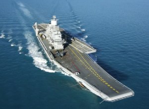 INS Vikramaditya at sea