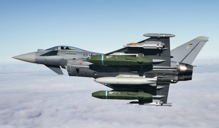 Typhoon begins flight tests with Taurus KEPD 350 missiles. Photo: Airbus Defence (Eurofighter)