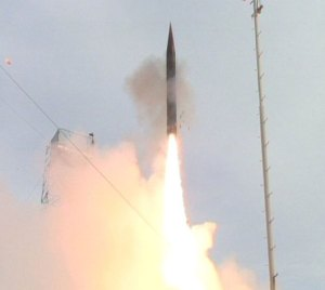Arrow 3 interceptor launched from the IDF missile test site on the mediterranean coast, south of Tel Aviv Photo: IMOD