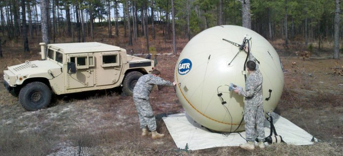 GATR currently supports 1.2, 1.8 and 2.4 meter diameter sphere dishes. These antennas perform like rigid deployable antennas of the same size, but provide up to 80% reduction in the logistical size and weight. Photo: GTAR