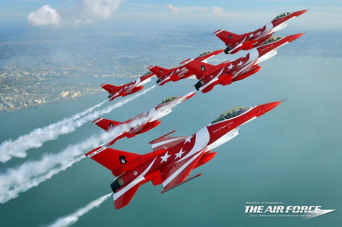The Black Knights have recently been re-formed, and will perform at the upcoming Singapore Airshow, to be held at the Changi Exhibition Centre from 11-16 February 2014. Photo: Republic of Singapore Air Force/Photo by Katsushiko Tokunaga (DACT).