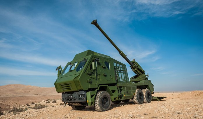 The new 6x6 configuration of the ATMOS was designed to address the Thai Army requirements. Photo: Elbit Systems