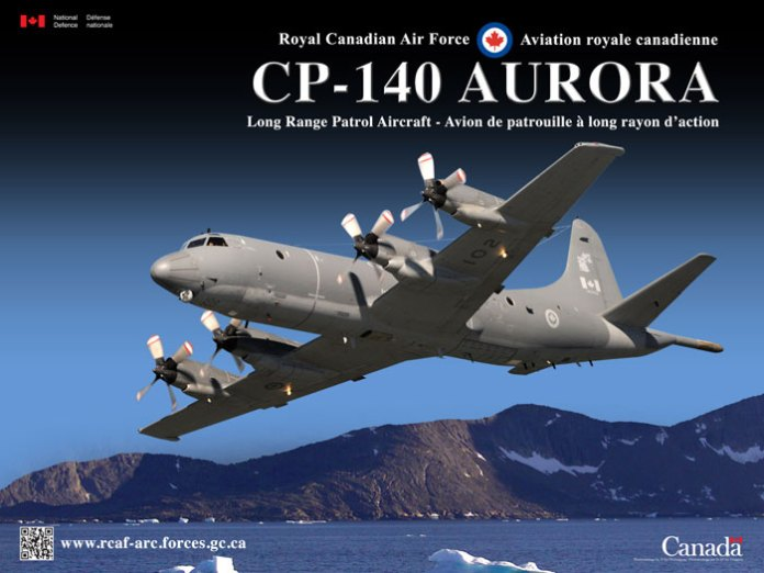 The Royal Canadian Air Force is operating 14 CP-140 Aurora aircraft in the maritime and arctic patrol mission. Photo: RCAF.
