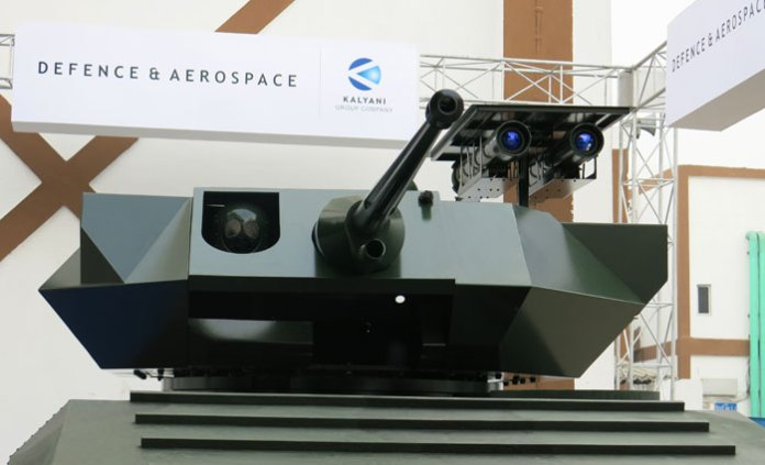 RAFAEL's Samson MkII remotely controlled weapon system mounts the 30mm cannon from ATK and two Spike LR missiles from RAFAEAL. The turret is designed to fit armor protection according to the level specified by the customer. Photo: Tamir Eshel, Defense-Update