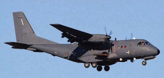CN-235 gunship modified by ATK for the Royal Jordanian Air Force seen landing at