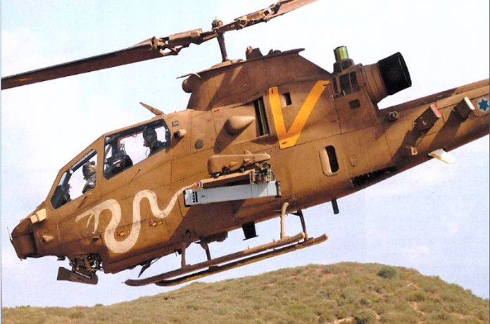 The Israel Air & Space Force has withdrawn the last AH-1S Cobra from active service late in 2013. The mission of the helicopter gunships have been assumed by locally built drones. The Cobra seen in this photo was modified to carry the Tamuz (SPIKE NLOS) attack missile, capable of striking mobile targets at a range of 25 km with pin-point accuracy. Photo: RAFAEL