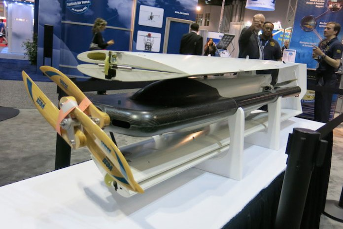 When folded, the XFC UAV  is stored in a canister that fits the submarine torpedo tube.