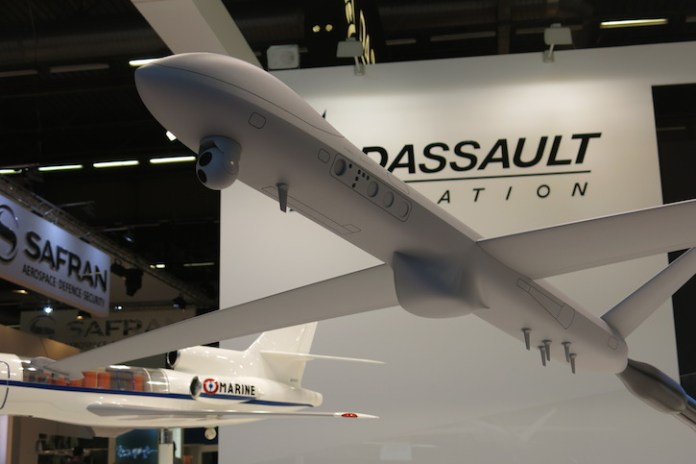 Dassault provided a view of its MALE2020 concept for a future MALE drone it could develop with Italian and German partners under a pan-european governmental initiative. Photo: Tamir Eshel, Defense-Update