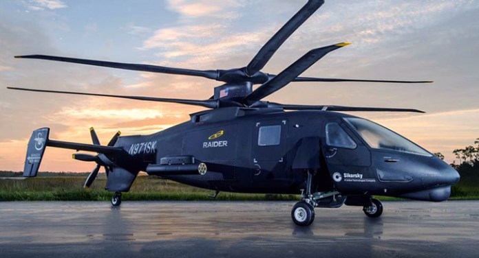 The first S-97 Raider prototype unveiled by Sikorsky Aircraft yesterday.  Photo: Sikorsky
