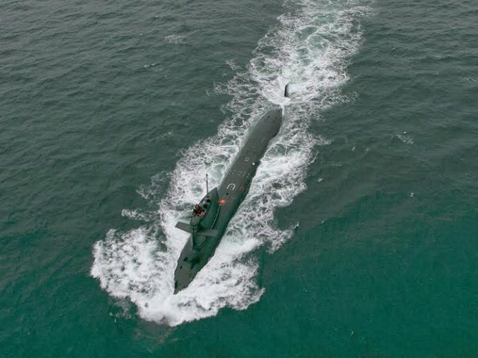 Scorpène class submarine. Photo: DCNS