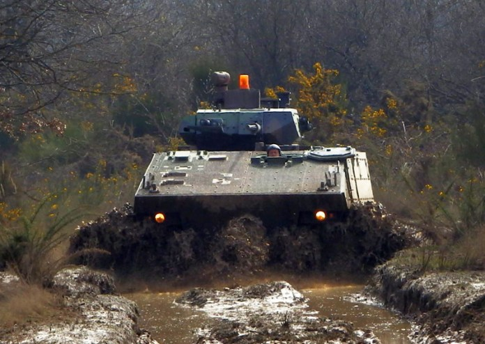 The up-armored variant of the French Army's VBCI wheeled combat vehicle has improved armored protection and provides better protection against IEDs. Photo: DGA