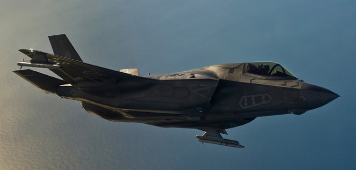 The F-35B carrying two ASRAAM missiles on outboard pylons.  Photo: BAE Systems