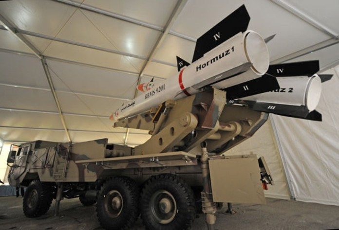 Hormoz missiles introduced in 2014 are variants of the Fatah 110 missile using passive RF guidance to hit radar emitting targets. As such they could be used effectively as counter-radar weapons. Photo: Iran's president website