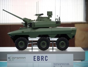 EBRC is the future combat vehicle to replace three types of wheeled combat/ reconnaissance vehicles currently in service - the AMX-10RC, ERC Sagie and the VAB HOT tank hunter.