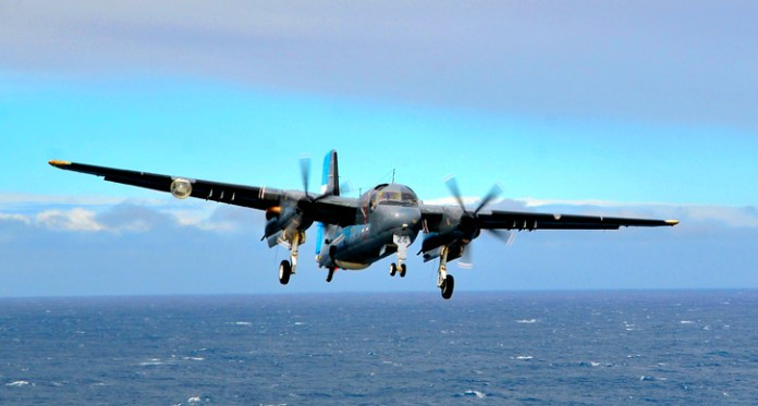 Argentinian Navy is the only navy currently maintaining the Grumman S-2T Turbo Tracker in operational use. The Brazilian Navy will also field the Tracker's cousin - the Trader on its new aircraft carrier Sao Paolo.