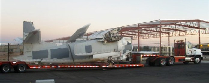 One of eight C-1A Trader airframes salvaged from Davis Montana boneyard in 2011.