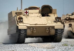 The AMPV will be delivered in several variants, including a troop carrier, command vehicle, mortar carrier and medical evacuation configurations. Photo: BAE Systems