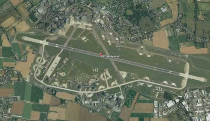 US Air Force to leave RAF Mildenhall. Photo: Google Earth