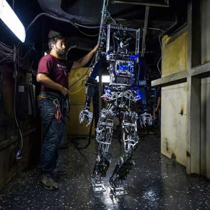 """""""Balancing on any type of terrain that's unstable - especially for bipedal robots - is very difficult,"""" said Brian Lattimer, associate professor for mechanical engineering at Virginia Tech. """"Whole-body momentum control allows for the robot to optimize the locations of all of its joints so that it maintains its center of mass on uncertain and unstable surfaces."""" Photo: US Navy"""