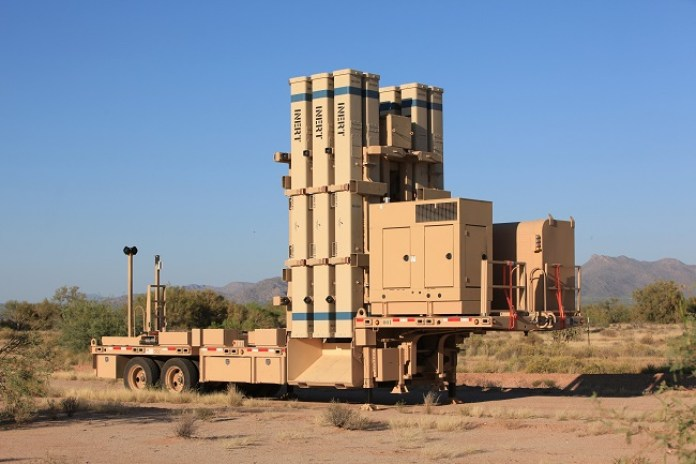 Raytheon is the developer of the mobile transporter-erector-launcher (TEL) system of David's Sling. Carrying 12 ready to launch missiles in sealed canisters, the launcher is deployed with an integral power supply, communications and command and control, enabling the system to deploy in distributed, or centralized control scheme.  the system is designed to enable rapid and efficient missile reloading of stacks of six missiles at a time. Photo: Raytheon