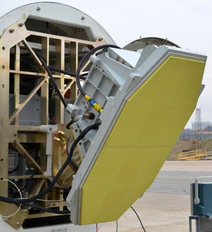 SABR-GS radar installed on a rack simulating the B-1B nose assembly. Photo: Northrop Grumman
