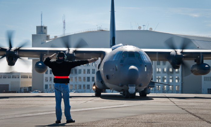 The first AC-130J lands at Hurlburt AFB for testing. This is the latest variant - AW-130J. As all J models, it is using Head Up Displays. In the future it could also be equipped with the latest helmet sights. Photo: US Air Force