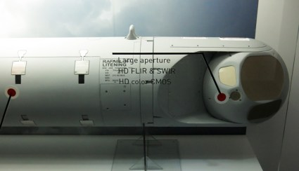 The Litening 5 targeting pod from Rafael comprises multiple apertures and more sensors supporting target acquisition and designation at extended range. Supporting image-based targeting (using RAFAEL's Matchguide system) the pod can support scene matching EO-guided weapons such as the Spices, to their full extended range enabling all fighter aircraft types equipped with these combination of sensor and weapons an independent, stand-off attack capability. Photo: Tamir Eshel, Defense-Update