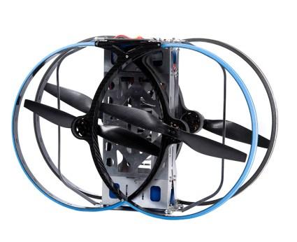 The Drone-3 foldable quadrotor designed by Malloy Aeronautics employs the principle design of the Hoverbike, in a smaller scale. Photo: Malloy Aeronautics
