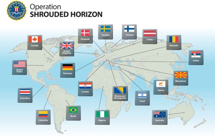 Yesterday, the U.S. Department of Justice and the FBI — with the assistance of our partners in 19 countries around the world — announced the results of Operation Shrouded Horizon, a multi-agency investigation into the Darkode forum. Among those results were charges, arrests, and searches involving 70 Darkode members and associates around the world; U.S. indictments against 12 individuals associated with the forum, including its administrator; the serving of several search warrants in the U.S.; and the Bureau's seizure of Darkode's domain and servers.