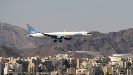 Arkia B757 landing in Eilat city airport. Photo: Rozenberg Igor