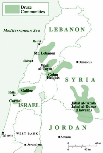 Druze communities in the Middle East